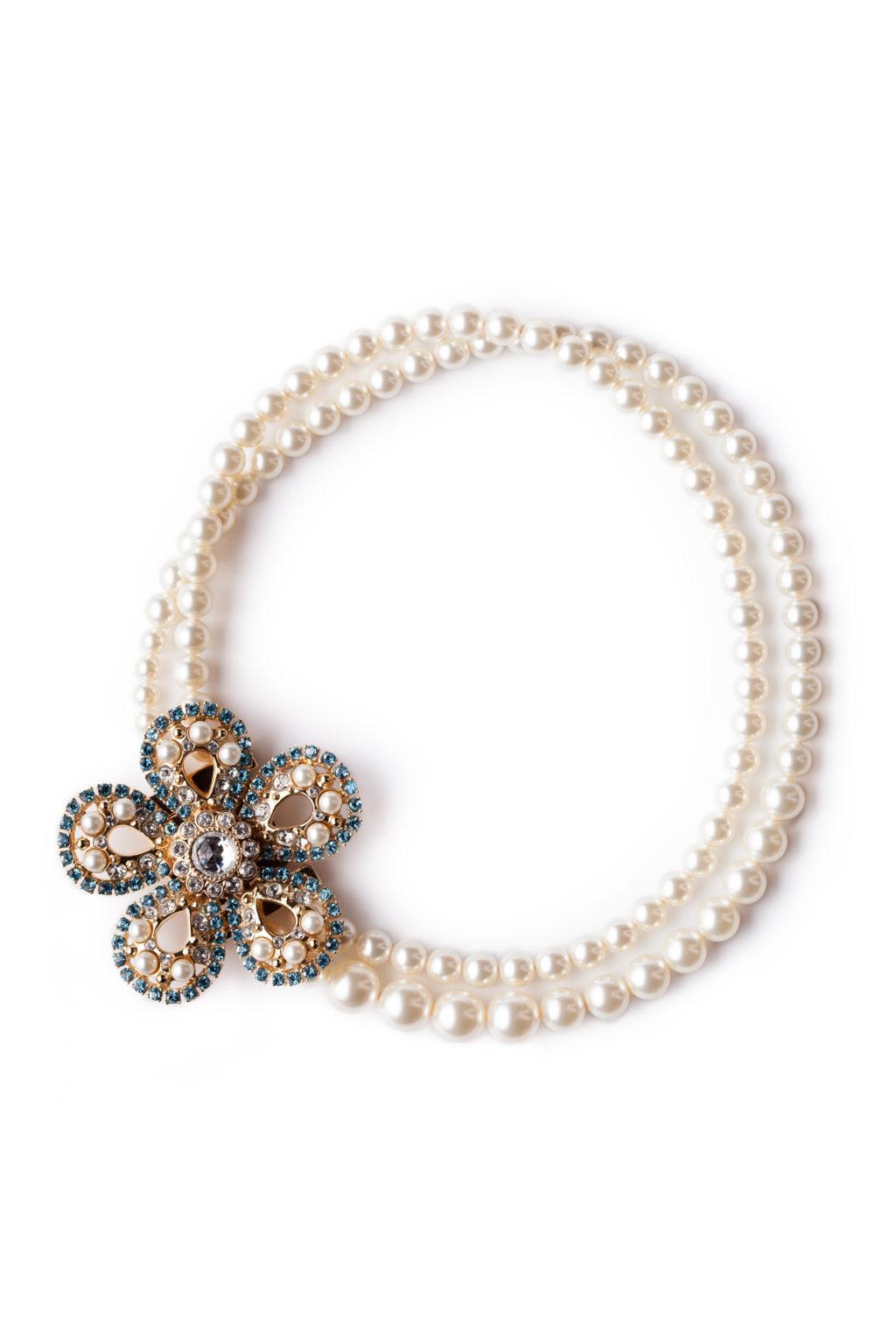 Flower pearl necklace MiuMiu - 4Element