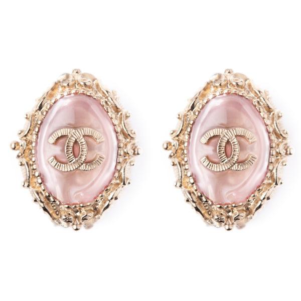 Pink crystal earrings Chanel