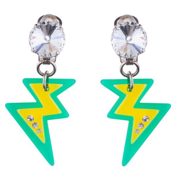Lightning bolt earrings Miu Miu