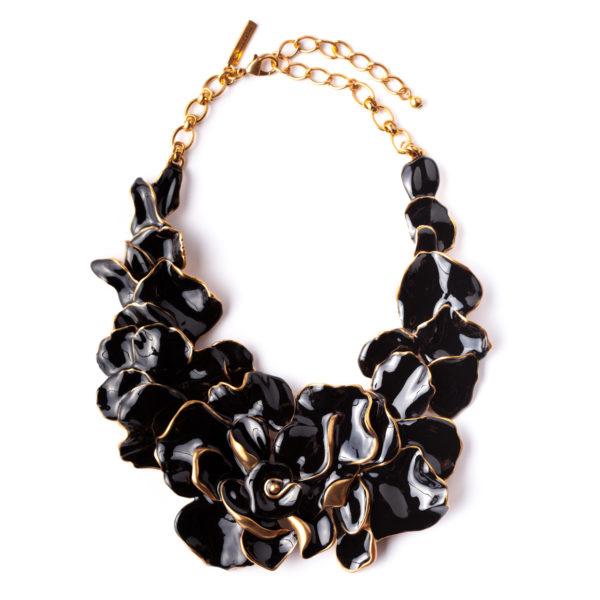 Black collar necklace Oscar de la Renta