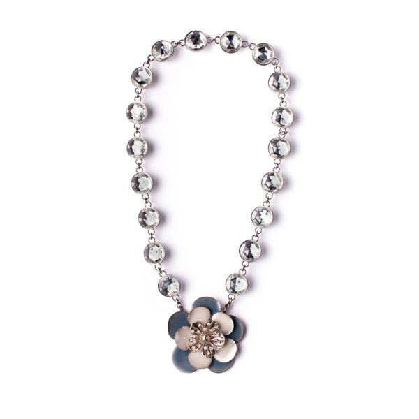 Crystal flower necklace Miu Miu