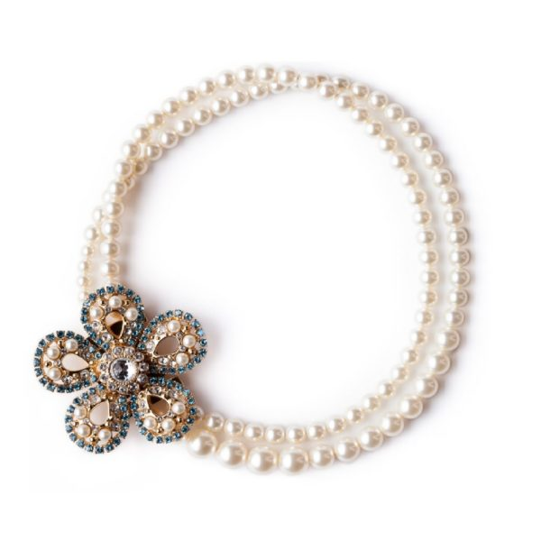 Flower pearl necklace MiuMiu