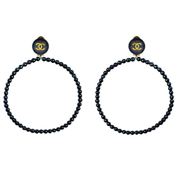 Vintage hoop earrings Chanel