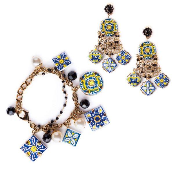 Majolica bracelet and earrings Dolce&Gabbana