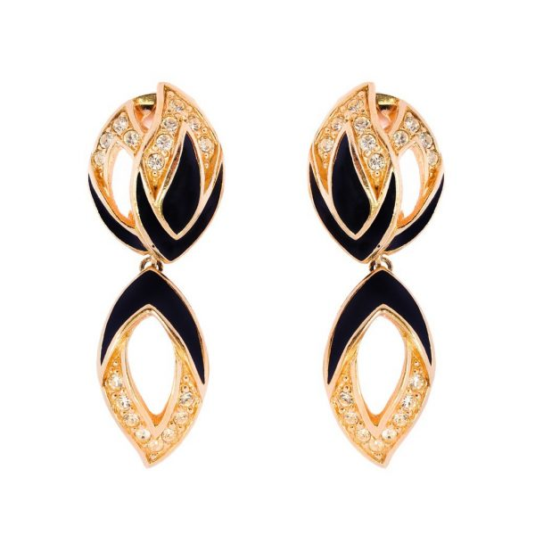 Vintage classic enamel dangle earrings Dior