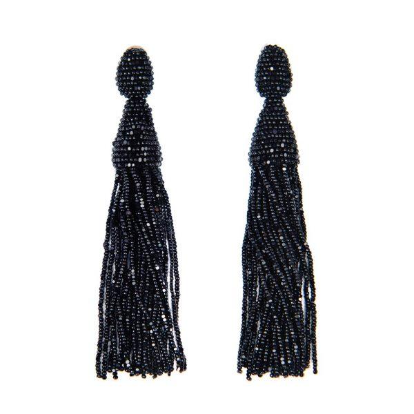 Beaded Tassel Earrings Oscar de la Renta