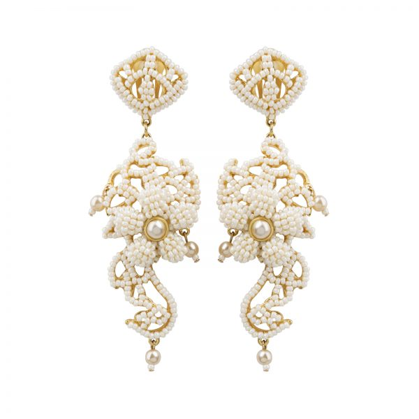 Haute couture pearl earrings Dior
