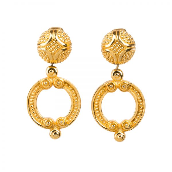 Vintage baroque earrings Dior