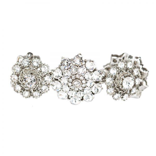 Crystal floral bracelet Oscar de la Renta