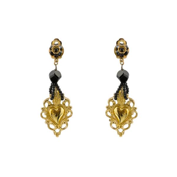 Sicily gold heart earrings Dolce&Gabbana