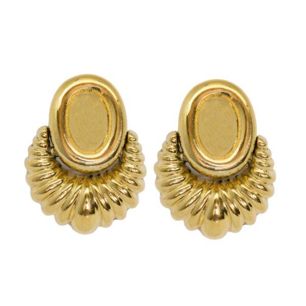Vintage Ribbed Pattern earrings Dior