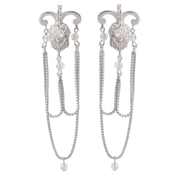Silver Acorn Earrings Dior