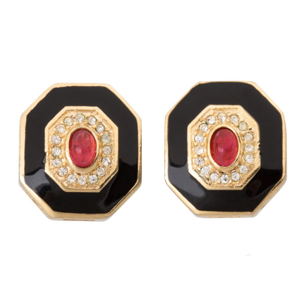 Vintage art deco style earrings Dior