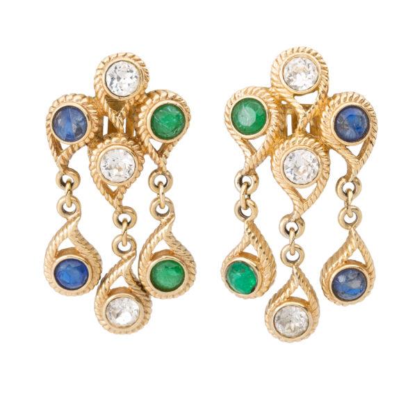 Vintage crystal dangle earrings Dior