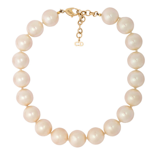 Vintage Oversized Pearl Necklace Dior