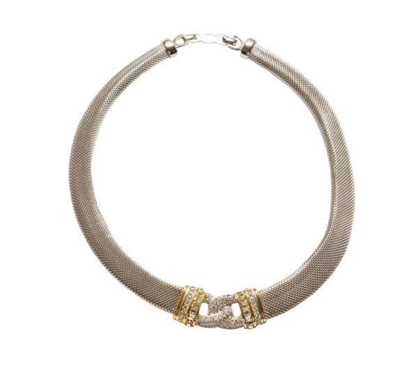 Vintage Silver knot necklace Dior