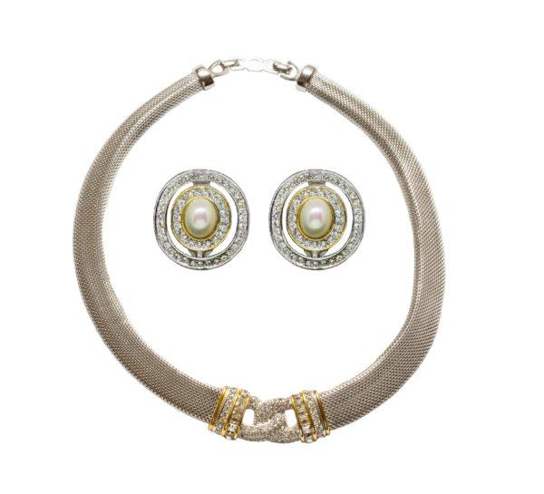 Vintage Silver knot set Dior