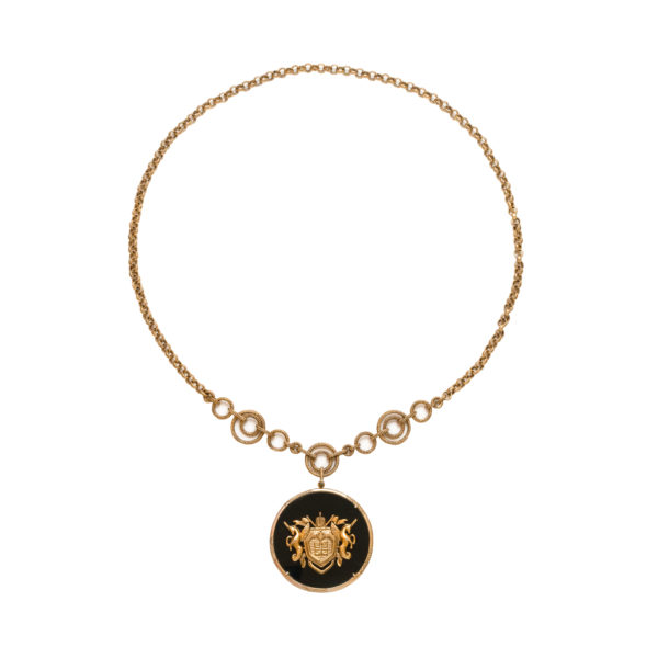 Vintage Haute Couture disc necklace Givenchy