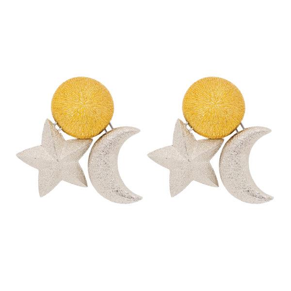 Celestial sun star moon earrings Dior