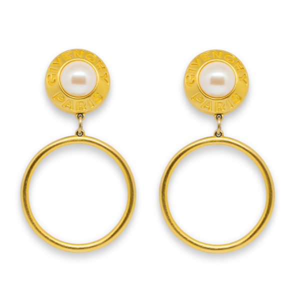 Gold signature hoop earrings Givenchy